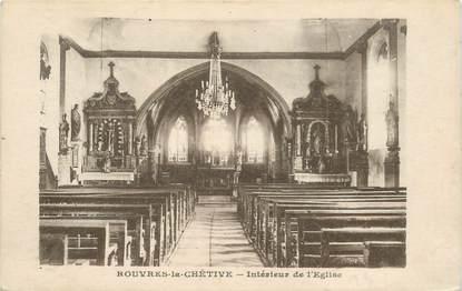 """CPA FRANCE 88 """"Rouvres la Chétive, intérieur de l'Eglise"""""""