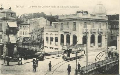 """CPA FRANCE 88 """"Epinal, le Pont des Quatre Nations"""""""