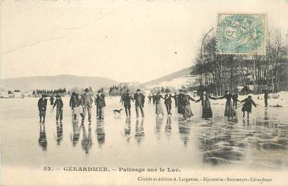 "CPA FRANCE 88 ""Gérardmer, patinage sur le Lac"""