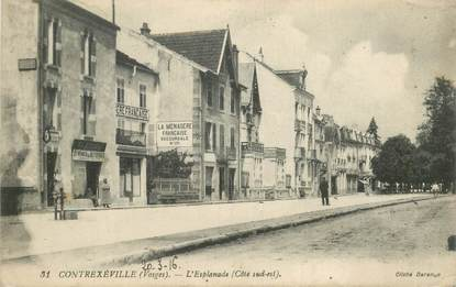 """CPA FRANCE 88 """"Contrexéville, L'Esplanade"""""""