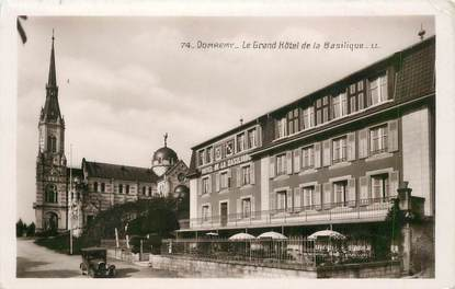 "CPSM FRANCE 88 ""Domremy, le Grand Hotel de la Basilique"""