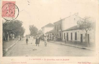 """CPA ALGERIE """"Birtouta, la grande rue, Rte de Boufarik"""""""