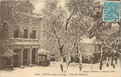 """CPA ALGERIE """"Sétif sous la neige"""""""