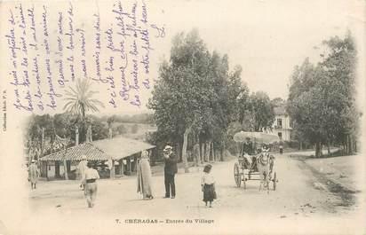 """CPA ALGERIE """"Chéragas, entrée du village"""""""