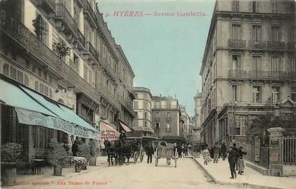 """CPA FRANCE 83 """"Hyères, avenue Gambetta"""""""