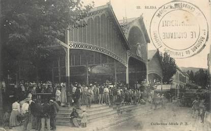"CPA ALGERIE ""Blida, le marché"""