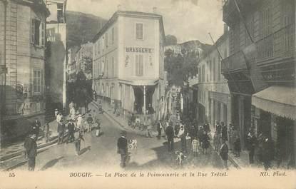 """CPA ALGERIE """"Bougie, place de la Poissonnerie"""""""