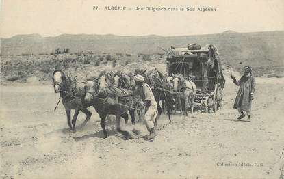"CPA ALGERIE / SCENES ET TYPES ""Diligence"""