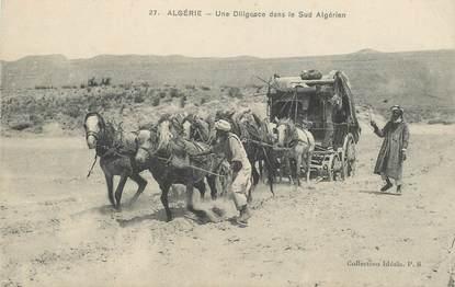 "CPA ALGERIE / SCENES ET TYPES ""Diligence"""