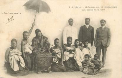 """CPA ALGERIE / SCENES ET TYPES """"Ex roi du Dahomey et sa famille"""""""