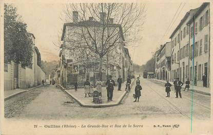 """CPA FRANCE 69 """"Oullins, la grande rue et rue de la Sarra"""""""