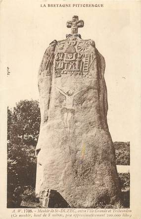 """CPA FRANCE 22 """"Menhir de Saint Duzec"""""""