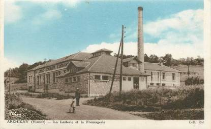 """CPA FRANCE 86 """"Archigny, la Laiterie et la Fromagerie"""""""