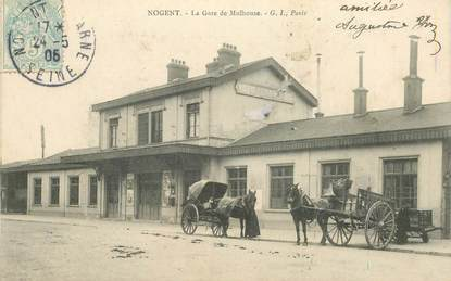 """CPA FRANCE 94 """"Nogent, la gare de Mulhouse"""""""