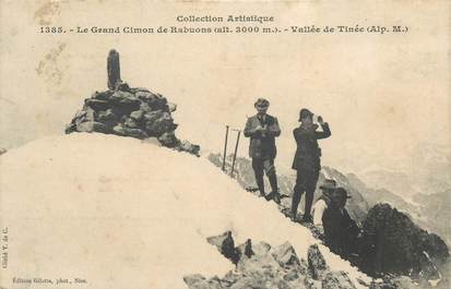 "CPA FRANCE 06 ""Le Grand Cimon de Rabuons, Vallée de Tinée"" / ALPINISME"