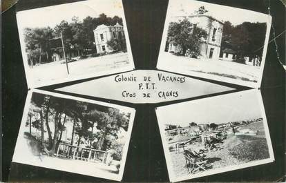 """CPSM FRANCE 06 """"Cros de Cagnes, colonie de vacances de PTT"""""""