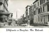 """69 RhÔne CPSM FRANCE 69 """"Villefranche en Beaujolais, rue Nationale"""""""