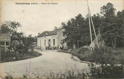 """CPA FRANCE 45 """"Malesherbes, Route des Roches"""""""