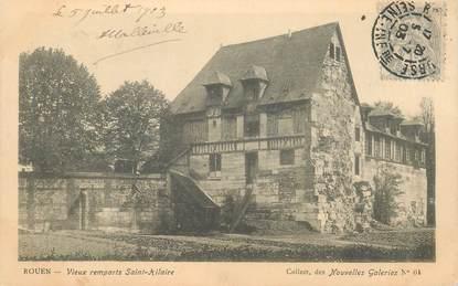 """CPA FRANCE 76 """"Rouen, les vieux remparts Saint Hilaire"""" / COLLECTION DES NOUVELLES GALERIES"""