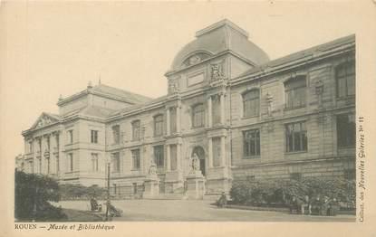 """CPA FRANCE 76 """"Rouen, le Musée et la Bibliothèque"""" / COLLECTION DES NOUVELLES GALERIES"""