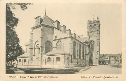 """CPA FRANCE 76 """"Rouen, Eglise et Tour de Carville"""" / COLLECTION DES NOUVELLES GALERIES"""