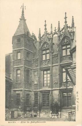"CPA FRANCE 76 ""Rouen, Hotel du Bourgtheroulde"" / COLLECTION DES NOUVELLES GALERIES"