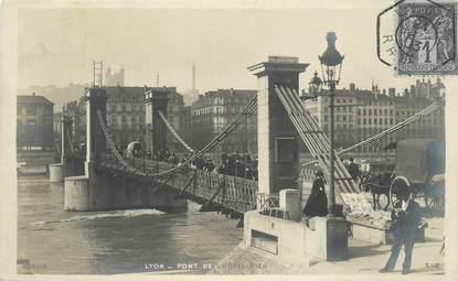"""CPA FRANCE 69 """"Lyon, Pont de l'Hotel Dieu"""""""