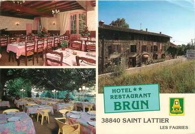 """CPSM FRANCE 38 """"Saint Lattier Les Fauries, Hotel"""""""
