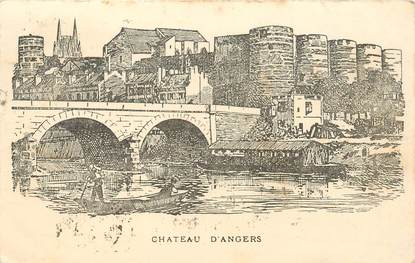 """CPA FRANCE 49 """"Chateau d'Angers"""""""