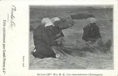 """CPA FRANCE 29 """"Les Raccommodeuses"""""""
