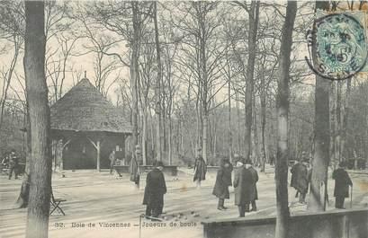 """CPA FRANCE 94 """"Bois de Vincennes, joueurs de boules"""""""