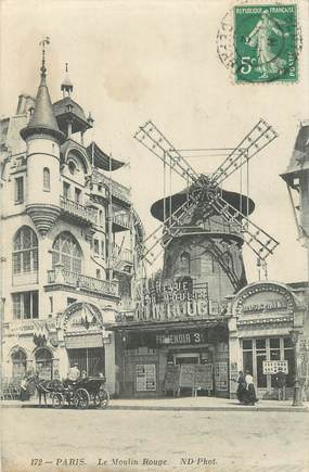"""CPA FRANCE 75018 """"Paris, le Moulin Rouge"""""""