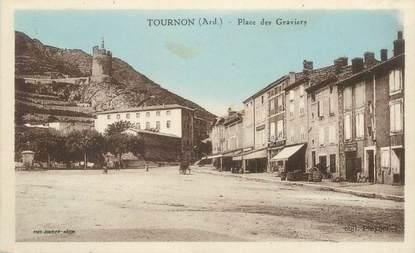 """CPA FRANCE 07 """"Tournon, Place des Graviers"""""""