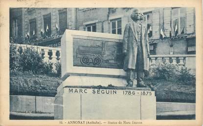 """CPA FRANCE 07 """"Annonay, statue de Marc Seguin"""""""