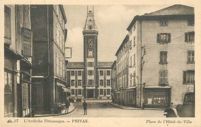 "CPA FRANCE 07 ""Privas, Place de l'Hotel de ville"""