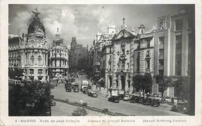 """CPA ESPAGNE """"Madrid, avenue Joseph Antoine"""""""