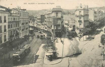 """CPA ALGERIE """"Alger, carrefour de l'Agha"""""""