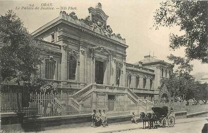"""CPA ALGERIE """"Oran, le Palais de Justice"""""""