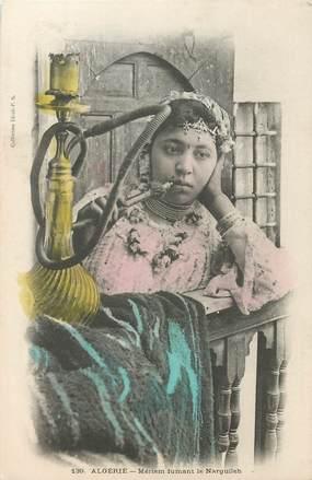 """CPA ALGERIE """"femme fumant le Narguileh"""""""