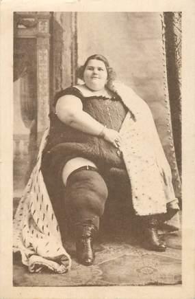 """CPA CIRQUE """"La plus grosse femme du monde"""""""