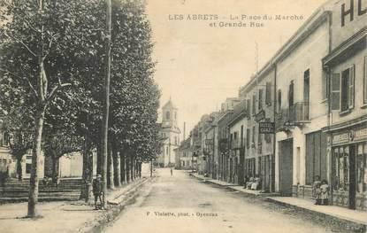 """CPA FRANCE 38 """"Les Abrets, la place du Marché"""""""