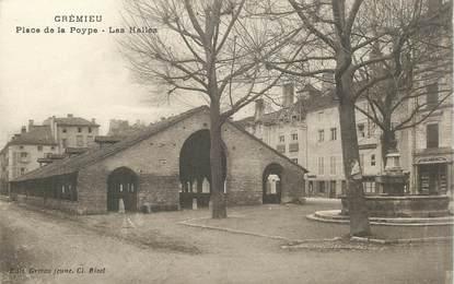 """CPA FRANCE 38 """"Crémieu, Place de la Poype"""""""