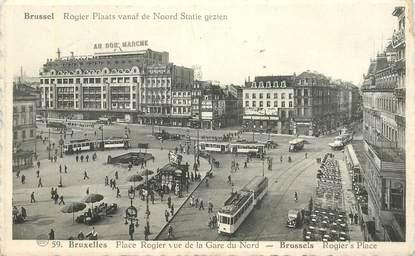 """CPA BELGIQUE """"Bruxelles, Place Rogier vue de la gare"""""""