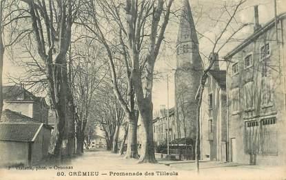 """CPA FRANCE 38 """"Crémieu, promenade des Tilleuls"""""""