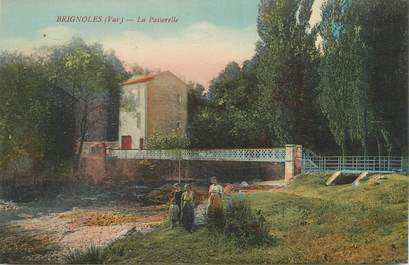 """CPA FRANCE 83 """"Brignoles, la Passerelle"""""""