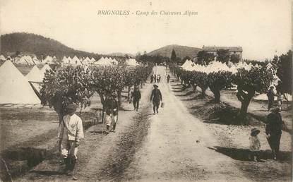 """CPA FRANCE 83 """"Brignoles, camp des Chasseurs alpins"""""""