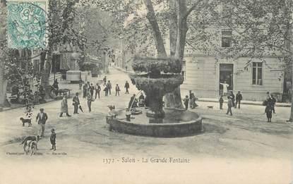 """CPA FRANCE 13 """"Salon, la grande Fontaine"""""""