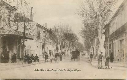 """CPA FRANCE 13 """"Salon, Bld de la République"""""""