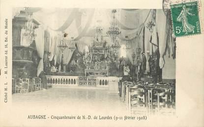 """CPA FRANCE 13 """"Aubagne, cinquantenaire de ND de Lourdes"""""""