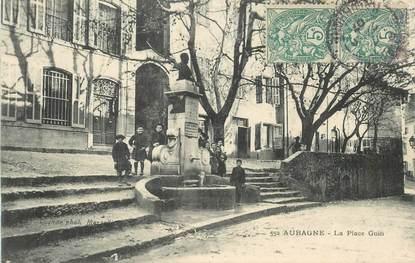 """CPA FRANCE 13 """"Aubagne, la Place Guin"""""""